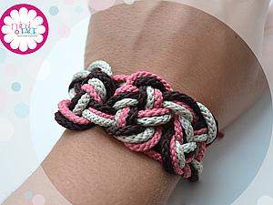 Браслет из шнурков | Ярмарка Мастеров - ручная работа, handmade