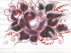 Как быстро и просто нарисовать розу в технике тампоновки. Ярмарка Мастеров - ручная работа, handmade.