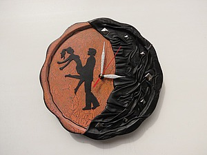 Создаем «кожаные» настенные часы | Ярмарка Мастеров - ручная работа, handmade