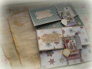 МК Новогодний конверт для писем Деду Морозу | Ярмарка Мастеров - ручная работа, handmade