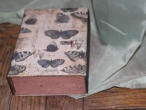 Декорируем короб под коробку без спичек ). Ярмарка Мастеров - ручная работа, handmade.