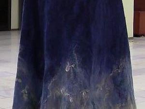 Валяная юбка с флисом. Видеозарисовка с мастер-класса | Ярмарка Мастеров - ручная работа, handmade