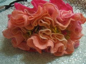 Валяние пышного цветка. Пион. Ярмарка Мастеров - ручная работа, handmade.