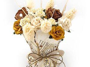Мастер-класс по бумажной вазе с цветами , handmade