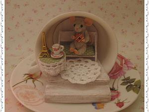 Мастерим сказочный домик в чашке для маленького мышонка. Ярмарка Мастеров - ручная работа, handmade.