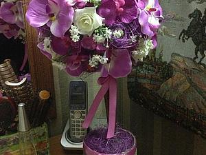 Заказ для Анны Топиарий Дикая орхидея | Ярмарка Мастеров - ручная работа, handmade