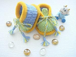 Вяжем спицами пинетки «Лялька». Ярмарка Мастеров - ручная работа, handmade.