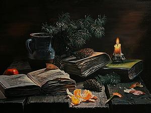 Масляная живопись поэтапно в фотографиях. Натюрморт с мандаринами.. Ярмарка Мастеров - ручная работа, handmade.