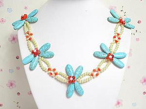 Создание прекрасного ожерелья со стрекозами. Ярмарка Мастеров - ручная работа, handmade.
