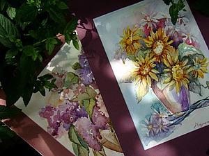 Акварельно-цветочное предложение плюс бонус   Ярмарка Мастеров - ручная работа, handmade