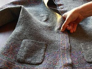 Прикрепляем войлочный кармашек к жакету. Ярмарка Мастеров - ручная работа, handmade.