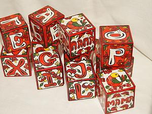 Новая работа - кубики с двумя алфавитами | Ярмарка Мастеров - ручная работа, handmade