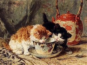 Кошки в искусстве. Генриетта Роннер-Книп – нидерландский художник-анималист. | Ярмарка Мастеров - ручная работа, handmade