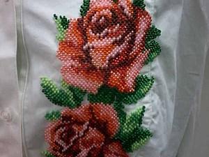Аукцион с нуля: блузка с бисерной отделкой. Большой размер! | Ярмарка Мастеров - ручная работа, handmade