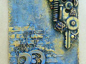 Делаем открытку-магнит к 23 февраля из того, что есть под рукой. Ярмарка Мастеров - ручная работа, handmade.