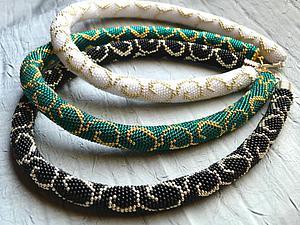 Распределение бисера по нитке при вязании жгутов. Ярмарка Мастеров - ручная работа, handmade.
