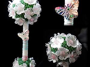 Деревце счастья в технике БижуТария   Ярмарка Мастеров - ручная работа, handmade