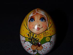 Пасхальное яйцо-матрёшка. Часть 4. Пишем лицо - губы, волосы.. Ярмарка Мастеров - ручная работа, handmade.