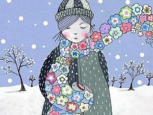 Акварельные открытки Lily Moon | Ярмарка Мастеров - ручная работа, handmade