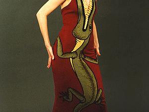 Платья-картины от Александра Серафимова | Ярмарка Мастеров - ручная работа, handmade