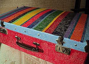 Декор старого чемодана. Ярмарка Мастеров - ручная работа, handmade.