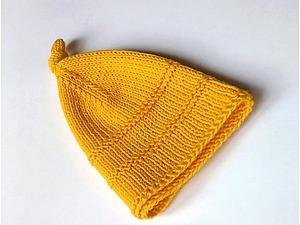 Забавная, желтая шапочка)) | Ярмарка Мастеров - ручная работа, handmade