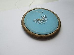 Вышиваем быстро ромашку канителью. Ярмарка Мастеров - ручная работа, handmade.