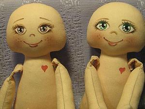 Как разметить лицо текстильной куколки. Ярмарка Мастеров - ручная работа, handmade.