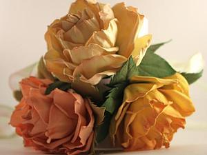 Роза из фоамирана с тонировкой лепестков | Ярмарка Мастеров - ручная работа, handmade