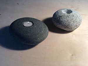 Делаем подсвечники из натурального камня. Ярмарка Мастеров - ручная работа, handmade.