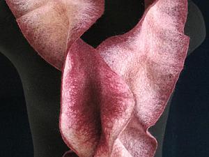 Видеоурок: валяем шарф с воланом. Ярмарка Мастеров - ручная работа, handmade.