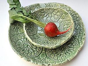 Лепка кружевной тарелки   Ярмарка Мастеров - ручная работа, handmade