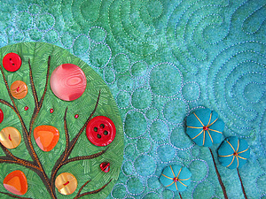 Стеганое панно «Яблоня» | Ярмарка Мастеров - ручная работа, handmade
