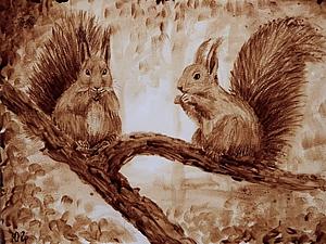 Сюжет о кофейных рисунках на НТВ | Ярмарка Мастеров - ручная работа, handmade