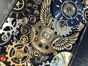 Стимпанк чехол на телефон, чехол в стиле стимпанк,часы/steampunk | Ярмарка Мастеров - ручная работа, handmade