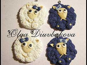 Лепим милых овечек из глины | Ярмарка Мастеров - ручная работа, handmade