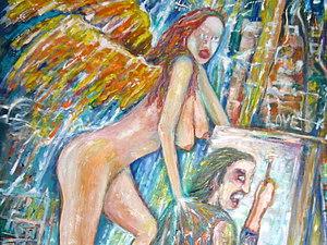 Заблудившийся ангел | Ярмарка Мастеров - ручная работа, handmade
