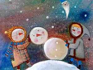 Пришло время...лепить снеговика! | Ярмарка Мастеров - ручная работа, handmade