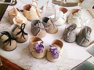 Делаем миниатюрные ботиночки для кукол. Ярмарка Мастеров - ручная работа, handmade.