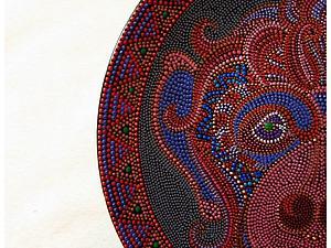 Как сделать треугольную окантовку-узор для тарелки в технике точечной росписи. Ярмарка Мастеров - ручная работа, handmade.