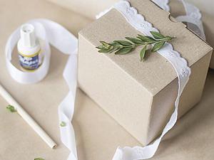 Делаем нежную эко-упаковку для подарка. Ярмарка Мастеров - ручная работа, handmade.