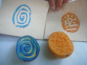 Быстрое изготовление простого (но симпатичного) штампа для декорирования упаковочных пакетиков. | Ярмарка Мастеров - ручная работа, handmade