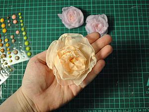 Делаем воздушные цветы из вуали. Ярмарка Мастеров - ручная работа, handmade.