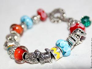 ЛЕТО! На аукцион выставляется яркий и сочный браслет в стиле пандора | Ярмарка Мастеров - ручная работа, handmade
