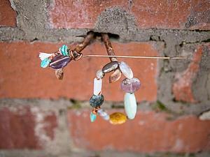 Дополнительные фотографии браслета с амазонитом и шпилька!   Ярмарка Мастеров - ручная работа, handmade
