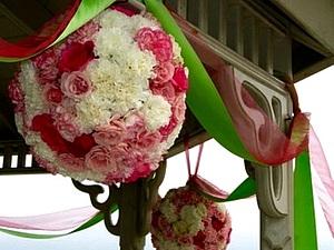 Как можно украсить ваш праздник текстильными шарами из роз...   Ярмарка Мастеров - ручная работа, handmade