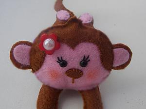 Шьём из фетра оригинальную резинку для волос «Озорная обезьянка». Ярмарка Мастеров - ручная работа, handmade.