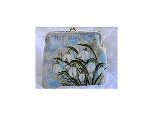 Валяем сумочку (косметичку) на пришивном фермуаре с акварельным рисунком | Ярмарка Мастеров - ручная работа, handmade
