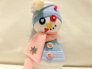 Снеговик из носка). Ярмарка Мастеров - ручная работа, handmade.