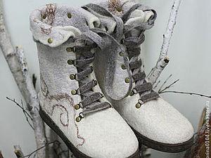 Мастер-шоу Виктории Куприяновой по теплым валяным ботиночкам | Ярмарка Мастеров - ручная работа, handmade